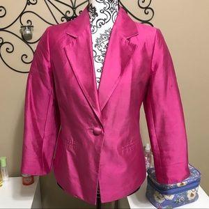 Talbots Pink Silk Blend Blazer 6